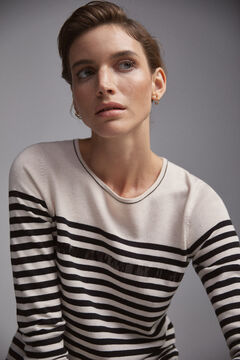 Pedro del Hierro Sequins striped jumper Black