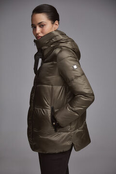 Pedro del Hierro Short hooded parka Green