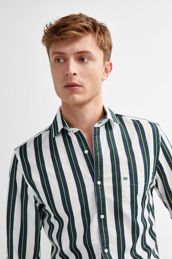 a8684468e Pedro del Hierro Camisa rayas tailored fit Verde
