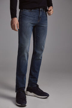 Pedro del Hierro Regular fit dark wash premium flex jeans Blue
