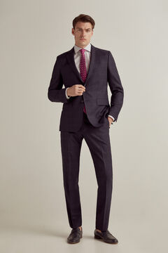 Pedro del Hierro Americana cuadro marino tailored fit Blue