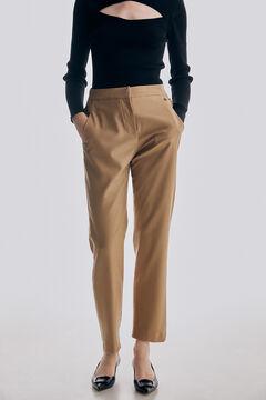 Pedro del Hierro Straight trousers Beige