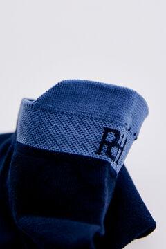 Pedro del Hierro Logo ankle socks Blue