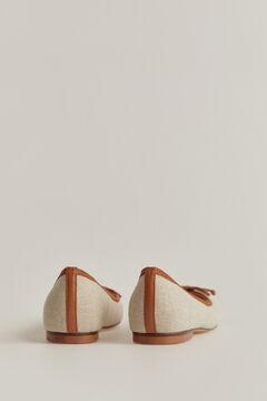 Pedro del Hierro Linen ballet flats Brown