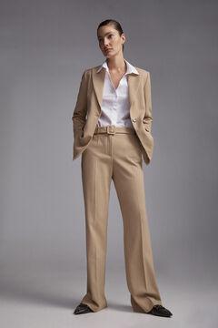 Pedro del Hierro A-line trousers Beige