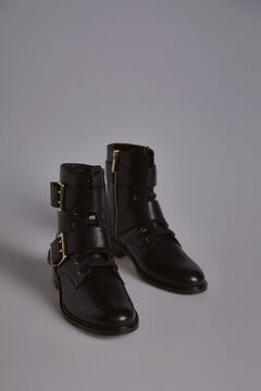 Pedro del Hierro Military Ankle Boots Black