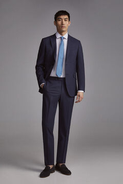 Pedro del Hierro Slim fit blue checked trousers  Blue