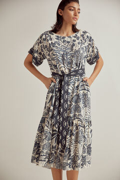 Pedro del Hierro Printed midi dress Blue