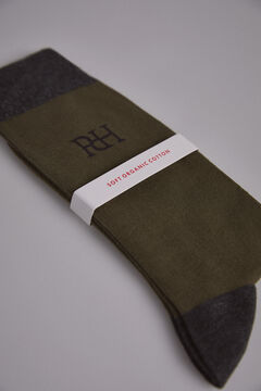Pedro del Hierro Plain big logo socks Green