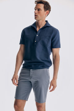 Pedro del Hierro False plain Bermuda shorts Blue