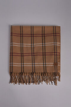 Pedro del Hierro Plaid scarf Beige