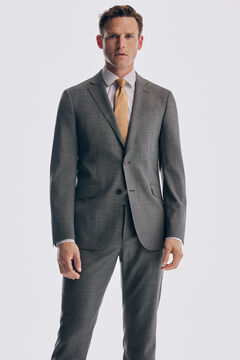 Pedro del Hierro Grey slim fit bi-stretch blazer Grey