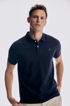 Pedro del Hierro Basic short sleeve polo shirt Blue