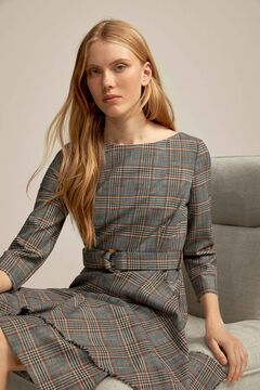 Pedro del Hierro Chequered dress Blue