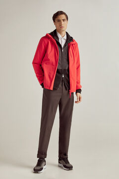 Pedro del Hierro Comfort laser cut technical jacket Red