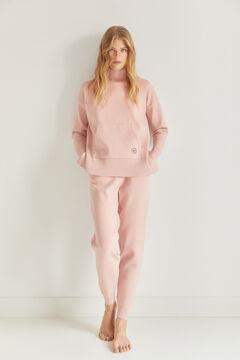 Pedro del Hierro Oversize mock turtleneck jumper Pink