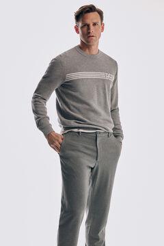 Pedro del Hierro Slim fit coordinated jersey-knit chinos with blazer Grey