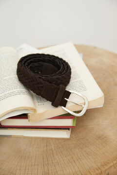 Pedro del Hierro Woven leather belt Brown