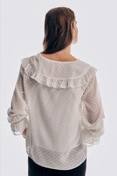 Pedro del Hierro Romantic blouse with polka dots Beige