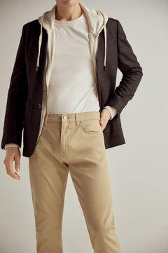 Pedro del Hierro Pantalón vaquero TX Protect premium flex 5 bolsillos color slim Beige