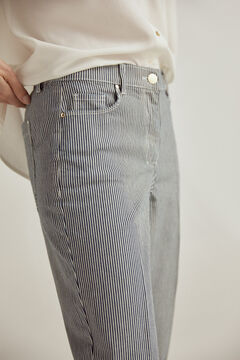 Pedro del Hierro Slim fit striped jeans Blue