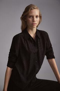 Pedro del Hierro Plumetis blouse Black