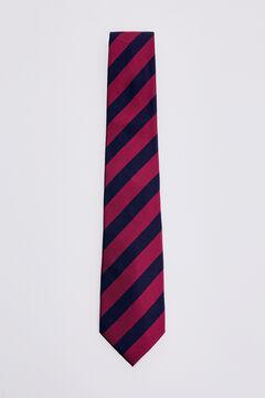 Pedro del Hierro Two-tone striped tie Red