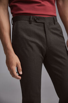 Pedro del Hierro Regular fit micro-print herringbone chinos Grey