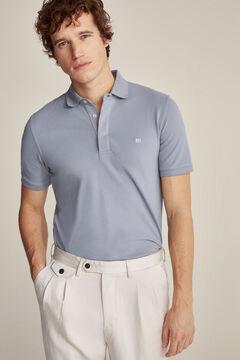 Pedro del Hierro Essential short-sleeved polo shirt Grey