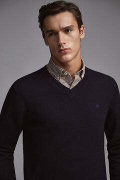 Pedro del Hierro V-neck jumper Blue