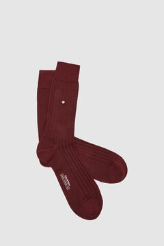 Pedro del Hierro Plain dress socks            Burgundy