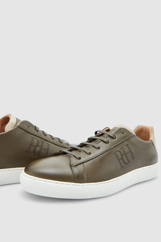 dc4d9188 Pedro del Hierro Sneaker piel logo Verde