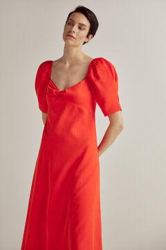 Pedro del Hierro Knot neckline midi dress Red