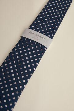 Pedro del Hierro Diamond jacquard tie Blue