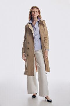 Pedro del Hierro Long trench coat. Beige