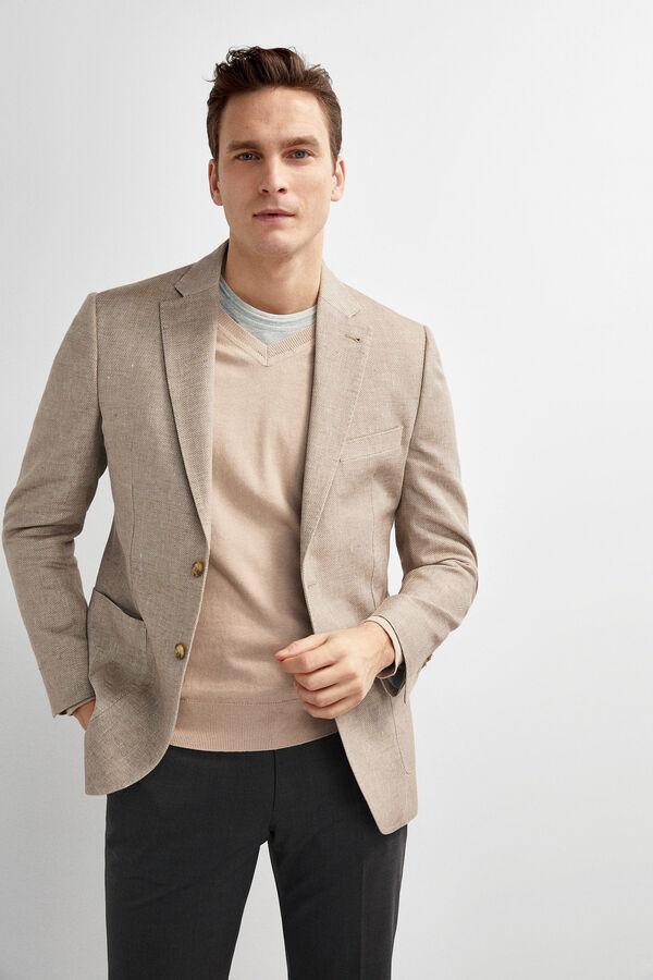 d1849c3e4fc7c Pedro del Hierro Americana algodón y lino Beige