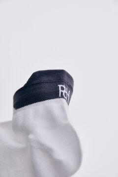 Pedro del Hierro Logo ankle socks White