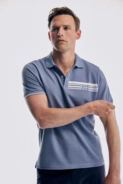 Pedro del Hierro Printed short-sleeved polo shirt Burgundy