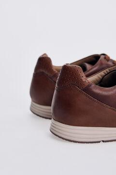 Pedro del Hierro Icon sneaker with rubber sole  Brown
