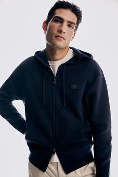 Pedro del Hierro Zip-up hooded cardigan Blue