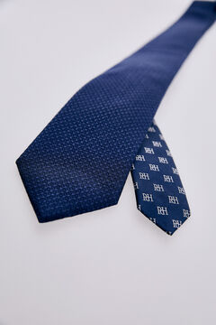Pedro del Hierro False plain tie Blue