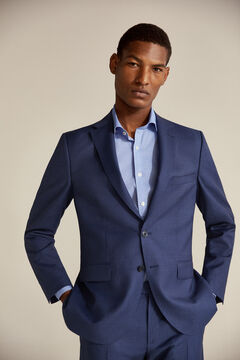 Pedro del Hierro Houndstooth tailored fit blazer Blue