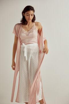 Pedro del Hierro Long jersey-knit gilet Pink