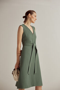 Pedro del Hierro Sleeveless V-neck dress Green