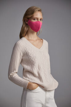 Pedro del Hierro Plain jersey-knit face mask Pink