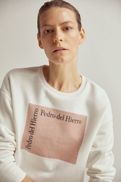 Pedro del Hierro Organic cotton logo sweatshirt Beige