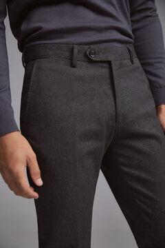 Pedro del Hierro Pantalón chino regular micro estampado espiga Gris