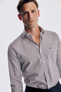 Pedro del Hierro Checked Travel Collection shirt Blue