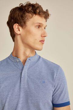 Pedro del Hierro Short-sleeved polo shirt Blue