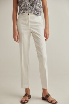 Pedro del Hierro Slim fit Tencel® trousers White